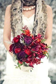 bouquet red purple