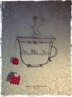 """""""thé"""" Coeur de ficelle"""