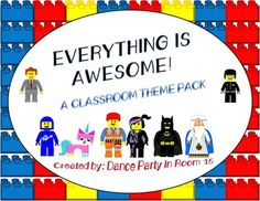 Complete Lego Movie Themed Classroom Decorations Bundle