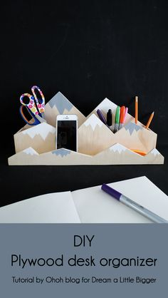 How to make a mountain desk organizer | Ohoh Blog - diy and crafts