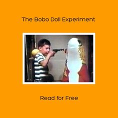 """The kindle version of this #psychology classic is available for free for the next 2 days (June 20-21). Click image or see following link.   www.amazon.com/dp/B00DHDC7Z8  If you have any problems with this link, just go the Amazon website in your country and type """"The Bobo Doll Experiment"""" into the search box.  Please like and repin"""