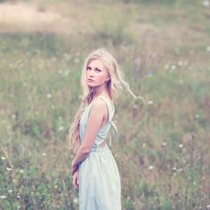 blonde in dress on nature by Aleshyn Andrei on @creativemarket