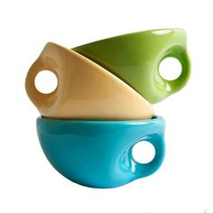These would be great for ice cream in the summer and hot soup on a cold winter's day!
