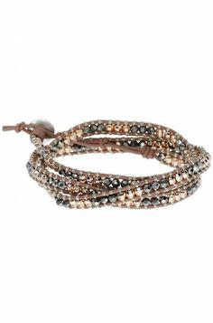 Rose Gold  Mixed Metal Leather Wrap Bracelet | Wonderlust Triple Wrap | Stella  Dot