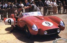 LeMans 1957 Ferrari 250 TR no 9 Gendebien Trintignant