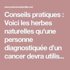 Conseils pratiques : Voici les herbes naturelles qu'une personne diagnostiquée d'un cancer devra utiliser ...