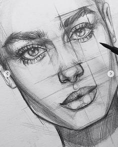 best cute drawings, anime drawings, drawing people of techniques, great examples of pencil drawings. Art Drawings Sketches Simple, Pencil Art Drawings, Realistic Drawings, Drawing Faces, Drawing Tips, Drawing Ideas, Face Pencil Sketch, Pencil Sketching, Art Drawings Beautiful