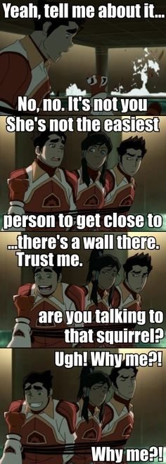 Legend of Korra Bolin Mako Pabu  Emperor's New Groove Reference