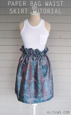 Paper Bag Waist Skirt Pattern & Tutorial