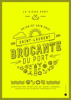 Affiche Fluo Brocant