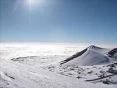 The first place I actually saw snow was hiking up to the summit of Mauna Kea on the Big Island!