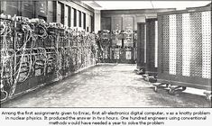 The World's First Electronic Computer
