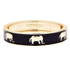 The Elephant Bangle in Black