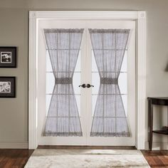 Lush Decor Antique Gray French Door Panels (Set of - Overstock™ Shopping - Great Deals on Lush Decor Curtains Curtains Living, Drapes Curtains, Velvet Curtains, Pattern Curtains, Purple Curtains, Luxury Curtains, Short Curtains, Burlap Curtains, Floral Curtains