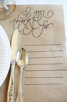 Why not encourage a thankful attitude and discussion that will prompt people gathered at your dining table to leave inspired to 'keep on' at what they are good at.
