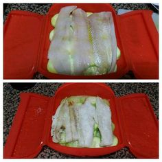 Merluza en lekue Receta de La cajita de Inma - Cookpad Cocina Natural, Tupperware, I Foods, Tapas, Sushi, Recipies, Food And Drink, Healthy Recipes, Healthy Food