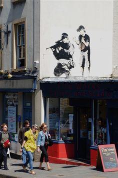 Banksy? Bristol opposite the Children's Hospital. The piece no longer exists.