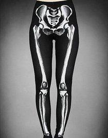 Leggings gothique 'horror skeleton'