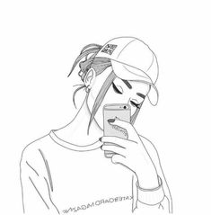 Image about girl in Zeichnungen😍🌹 by Larissa LaaLa Tumblr Girl Drawing, Tumblr Sketches, Girl Drawing Sketches, Cute Girl Drawing, Girly Drawings, Tumblr Art, Girl Sketch, Pencil Art Drawings, Tumblr Outline Drawings