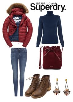 """The Cover Up – Jackets by Superdry: Contest Entry"" by mcounce on Polyvore featuring Fuji, 7 For All Mankind, Repeat Cashmere, Mansur Gavriel and Superdry"