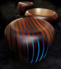 lamellux- wood with optical fibers. This would look interesting in a wall, to light the way, or incorporated into stairs.