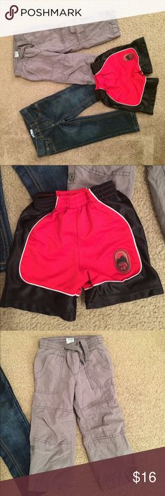 "$14 boys size 2t bottom lot skinny jeans & shorts All euc! The skinny jeans were never worn. ✔️the price in the beginning of the title of my listings is the bundle price. These prices are valid through the ""make an offer"" feature after you create a bundle. These bundle orders must be over $15. Ask me about more details if interested.  ❌No trades ❌No hold Nike Bottoms Casual"