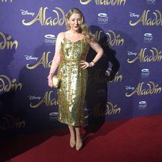 Schauspielerin Sandra Quadflieg auf der Premiere von Disneys #Aladdin #AladdinHamburg