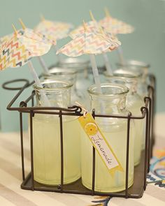 Baby shower drinks. Check this blog out. This girl has got some great ideas!