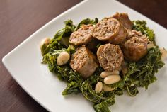Erin's Food Files » Chicken Sausages with Kale and White Beans