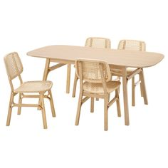 Voxlöv Voxlöv (IKEA Dining Sets) ( Furniture > Dining Furniture > Dining Table Chair > Dining Sets ) #09388657 Bamboo Bamboo, Table And Chairs, Dining Table, Dining Room, Can Design, Weaving Techniques, Types Of Wood, Furniture Making, That Way