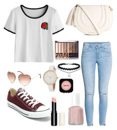 """""""Summer Fair"""" by fadedlipstick on Polyvore featuring H&M, Full Tilt, Converse, Essie and NYX"""