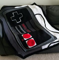 Game Controller Crochet Blanket.
