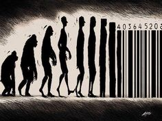 Darwin Evolution satirical illustration6