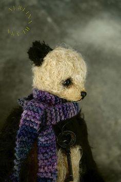 Vintage Style Panda Artist Teddy Bear from Aerlinn by aerlinnbears