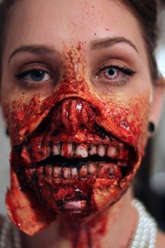 Zombie MAkeup Pictures and pics