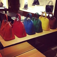 "LV ""Alma"" bag in a rainbow of colors"