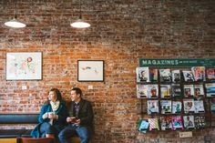 Engagement session at Habit Coffee in Victoria, BC by Lara Eichhorn Photography.