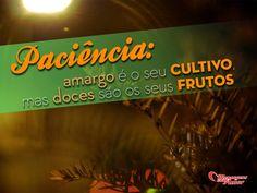 Paciência: amargo é o seu cultivo, mas doces são os seus frutos. #paciencia #vida #reflita #mca