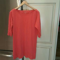 Lilly Pulitzer Coral tunic Authentic Lilly! Great for summer. No size indicated on tag but looks like a medium. Gently worn. Great condition Lilly Pulitzer Tops Tunics