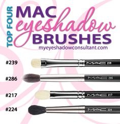 Top 4 MAC Eyeshadow Brushes   Cheaper Comparables.  I love my MAC brushes but Sigma makes pretty good comparables.  Will def try when my MAC brushes die :)