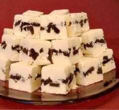 """Cookies 'n Cream Fudge: """"This is delicious! I made some for a bake sale at the office and after sampling some, my husband said he was going to have to buy it all back!"""" -Jnet 72"""