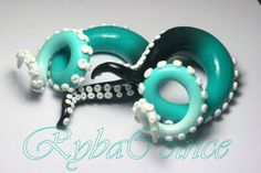 "Tentacle plug   8g, 6g , 2g, 0g, 3/8"", 1/2"", 9/16"", 5/8"", 3/4"" by RybaColnce on Etsy"