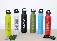 Personalized Bottle 25oz Double Wall Insulated Vacuum Fifty Fifty Bottle | Free Engraving Name on Thermos | Stainless Steel Tumbler | Custom Canteen Birthday Gift | Employee Gifts | Personalized Gifts Work Gifts, Office Gifts, Personalized Water Bottles, Personalized Gifts, Custom Canopy, Promo Gifts, Moving Gifts, Military Gifts, Employee Gifts