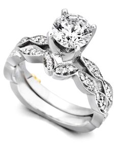 Whisper Engagement Ring with Wedding Band - Mark Schneider