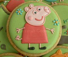 Galletas peppa Pig Cookies, Cookies For Kids, Cute Cookies, Sugar Cookies, Peppa Pig Cookie, Cookie Designs, Cookie Ideas, Pig Party, 2nd Birthday