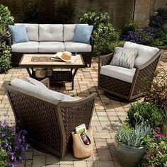 Santa Monica 4-Piece Deep Seating Set with Premium Sunbrella® Fabric
