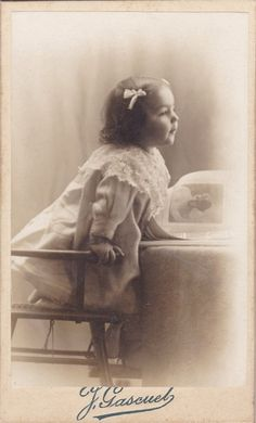 Antique CDV Photograph  Cherubic Little Girl by foxandfablevintage