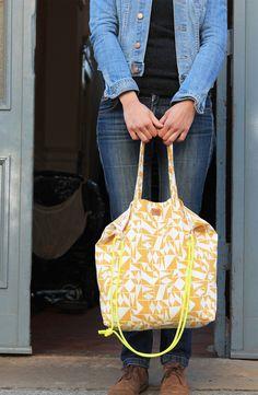 Sommerliches Nähset für eine große Tasche / summerly diy sewing set: shopper bag by supercraft via DaWanda.com
