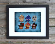 Special Doctor Who Cupcakes - Art Print by susanoleinik on Etsy https://www.etsy.com/listing/170093724/special-doctor-who-cupcakes-art-print