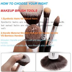 Two Ways tell you how to choose the right brush for your eye,foundation,powder,lip